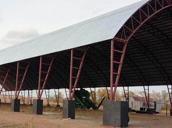 Строительство крытого тока 21х51м